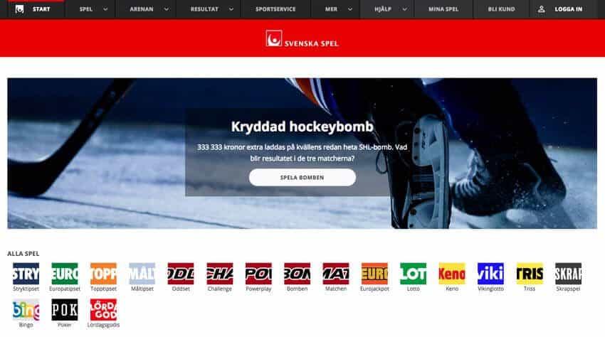 Svenska Spel app, tjänster, livebetting och utbud av odds
