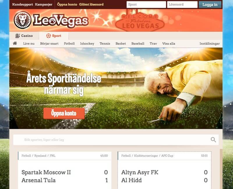 Leo Vegas odds och betting