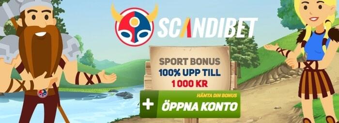 ScandiBet bonus, bonuskod och välkomstbonus
