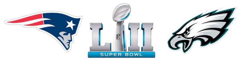 Patriots - Eagles Super Bowl 2018 roliga odds och specialspel